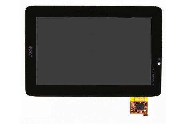 Фирменный LCD-ЖК-сенсорный дисплей-экран-стекло с тачскрином на планшет Acer Iconia Tab A110/A111 черный и инструменты для вскрытия + гарантия
