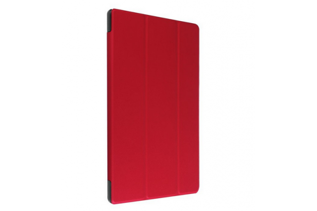"""Фирменный умный чехол самый тонкий в мире для планшета Acer Iconia Tab A3-A30/A31 """"Il Sottile"""" красный кожаный"""