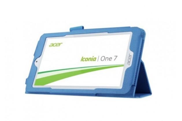 "Чехол для Acer Iconia One 7 B1-770 (K75V / NT.LBKEE.002 / K057) 7.0"" голубой кожаный"