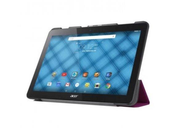 """Фирменный умный тонкий чехол для  Acer Iconia One B3-A10 / B3-A11 10.1/ Android 5.1 / NT.LB6EE.003 / MediaTek MT8151 1.7 GHz  """"Il Sottile"""" фиолетовый пластиковый"""