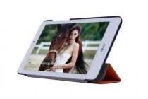 """Фирменный умный тонкий легкий чехол для Acer Iconia Tab 8W W1-810/ W1-811 """"Il Sottile"""" оранжевый пластиковый"""
