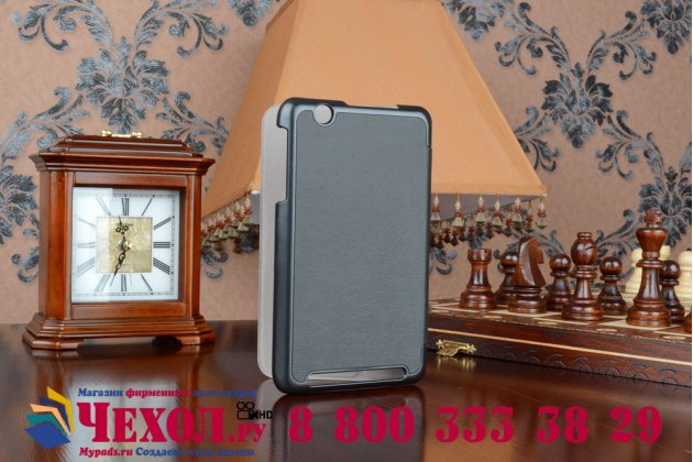 """Фирменный умный чехол самый тонкий в мире для планшета Acer Iconia Tab B1-750/B1-751 """"Il Sottile"""" черный кожаный"""