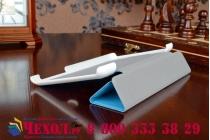 """Фирменный умный чехол-книжка самый тонкий в мире для Acer Iconia Tab One X 7 B1-740/B1-741  """"Il Sottile"""" голубой пластиковый"""