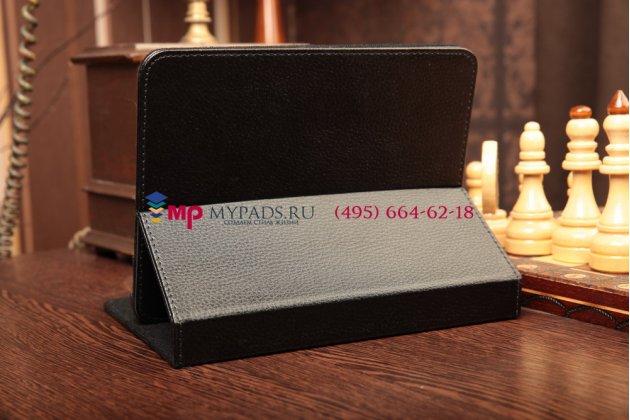Чехол-обложка для Acer Iconia Tab WT5 черный кожаный