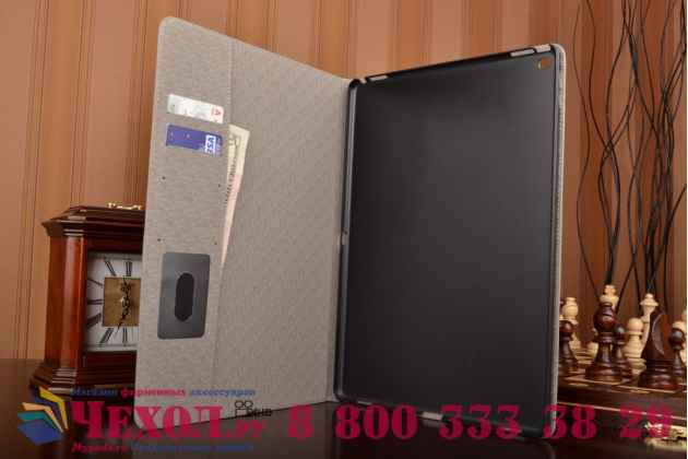 """Фирменный чехол для iPad Pro 12.9"""" лаковая кожа крокодила серый"""