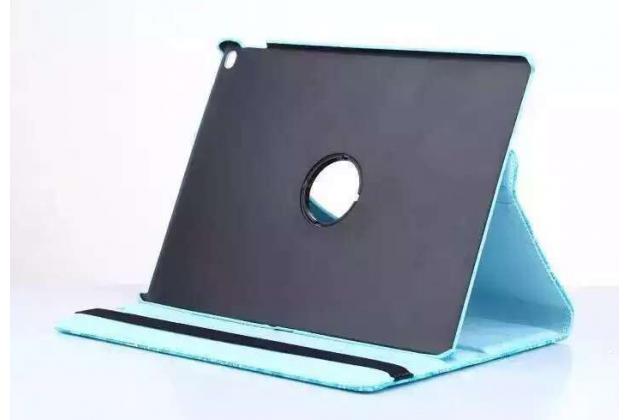 Чехол для планшета iPad Pro 12.9 поворотный роторный оборотный с 3D рисунком фиолетовый кожаный