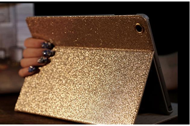 """Фирменный чехол-обложка для iPad 2/3/4 new тематика """"Глаза"""" золотой с блестками"""