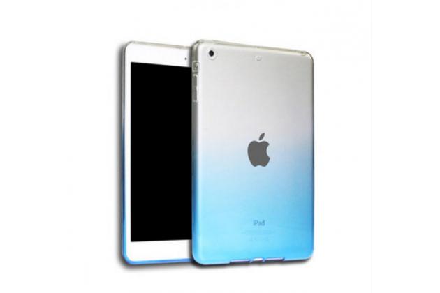 """Фирменная из тонкого и лёгкого пластика задняя панель-чехол-накладка для iPad Pro 9.7"""" прозрачная с эффектом дождя"""