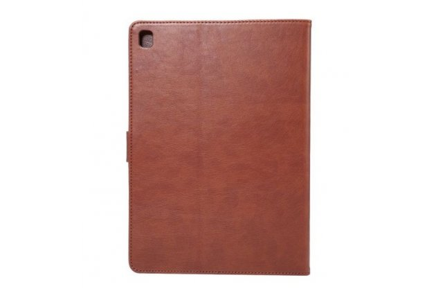"""Фирменный премиальный чехол бизнес класса для iPad Pro 9.7 с визитницей из качественной импортной кожи """"Ретро"""" коричневый"""
