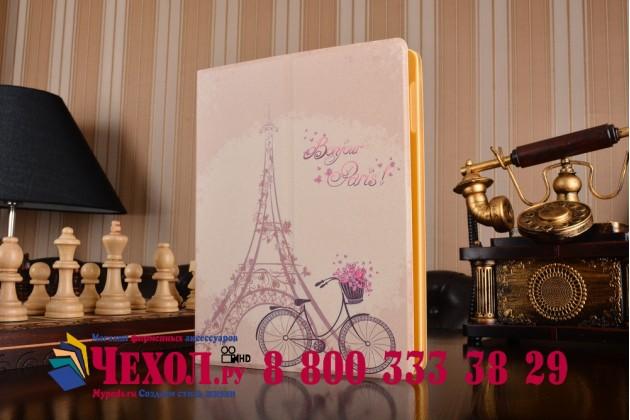 """Чехол для Apple iPad 2/3/4 """"тематика Париж"""" кожаный"""