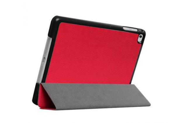 """Фирменный умный чехол-книжка самый тонкий в мире для iPad mini 4 """"Il Sottile"""" красный кожаный"""
