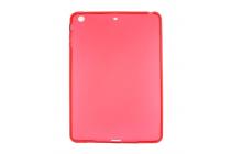 Фирменная ультра-тонкая полимерная из мягкого качественного силикона задняя панель-чехол-накладка для iPad mini 4 красная