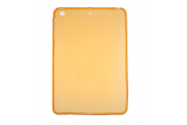 Фирменная ультра-тонкая полимерная из мягкого качественного силикона задняя панель-чехол-накладка для iPad mini 4 золотая