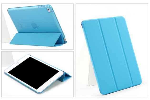 """Яркий красивый сочный голубой цвет чехол для iPad Air """"Il Sottile"""" кожаный"""