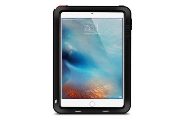 Неубиваемый водостойкий противоударный водонепроницаемый грязестойкий влагозащитный ударопрочный фирменный чехол-бампер для iPad Mini 4 цельно-металлический со стеклом Gorilla Glass