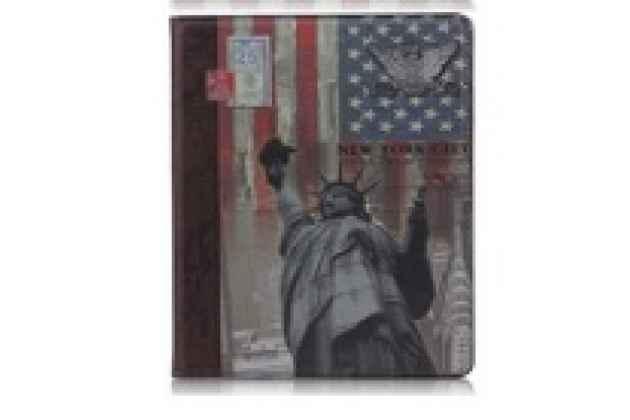 """Чехол для Apple iPad 2/3/4 """"тематика Статуя Свободы США"""" кожаный"""