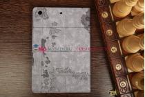 "Чехол для iPad Mini 2 with Retina Display/ iPad Mini 3  ""тематика карта мира"" серый"
