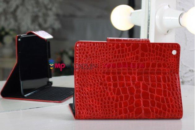 Чехол-обложка для Apple iPad Mini 2 with Retina display кожа крокодила красный