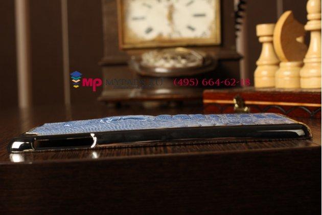 Задняя панель-крышка для iPad mini кожа крокодила голубой