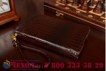 Фирменный роскошный эксклюзивный чехол-клатч/портмоне/сумочка/кошелек из лаковой кожи крокодила для планшетов Acer Aspire Switch 12. Только в нашем магазине. Количество ограничено.