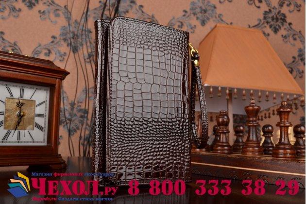 Фирменный роскошный эксклюзивный чехол-клатч/портмоне/сумочка/кошелек из лаковой кожи крокодила для планшетов iPad Mini 3. Только в нашем магазине. Количество ограничено.