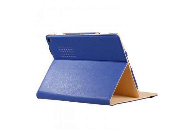 Фирменный оригинальный чехол для Acer Aspire Switch 12 Alpha (NT.LCDER.008) с отделением под клавиатуру синий кожаный