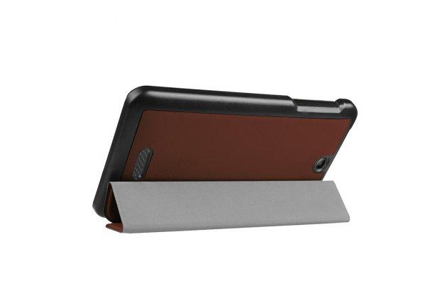 Фирменный умный чехол самый тонкий в мире для Acer Iconia One 7 B1-780 iL Sottile коричневый пластиковый Италия