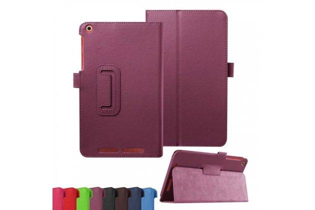 Фирменный чехол-обложка с подставкой для Acer Iconia Tab A1-860 фиолетовый кожаный