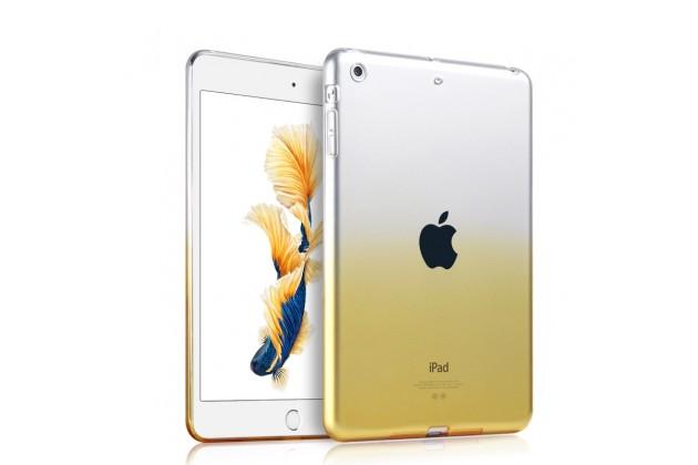 Фирменная ультра-тонкая полимерная задняя панель-чехол-накладка из силикона для iPad Pro 12.9 прозрачная с эффектом песка