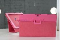 Фирменный чехол-обложка для Acer Iconia Tab A510/A511 розовый кожаный