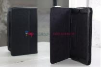 Чехол закрытого типа из мягкой кожи для iPad Mini черный кожаный