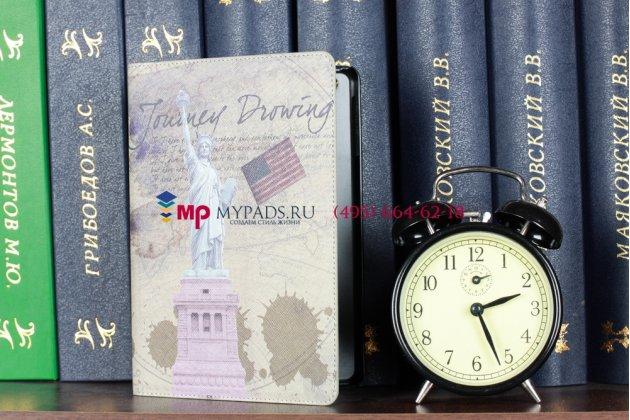 "Чехол-обложка для iPad Mini ""тематика американский флаг"" кожаный"