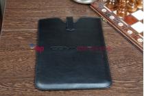 """Универсальный чехол для планшетов диагональю 10"""" черный кожаный"""